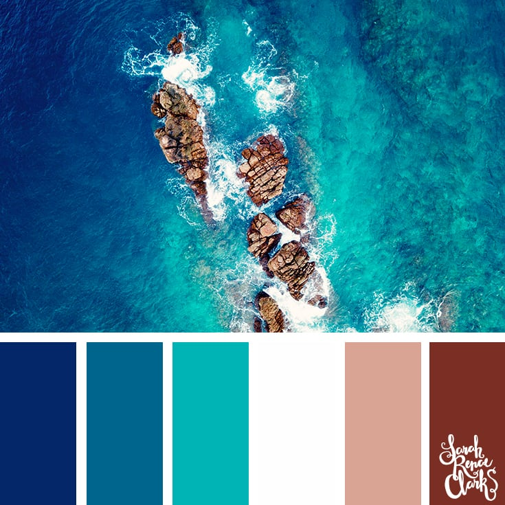 Ocean hues - color palettes, color schemes