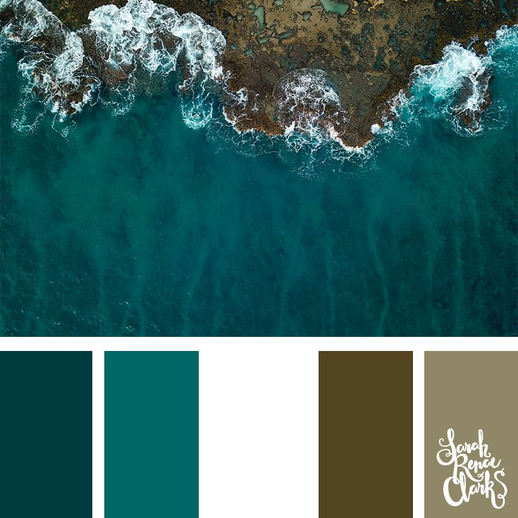 Teal waves - color palettes, color schemes