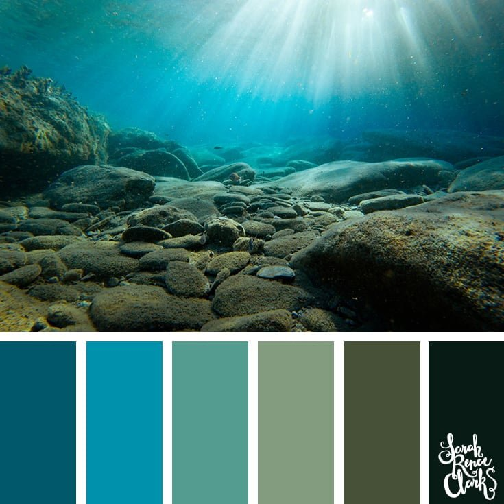 Under the sea - color palettes, color schemes