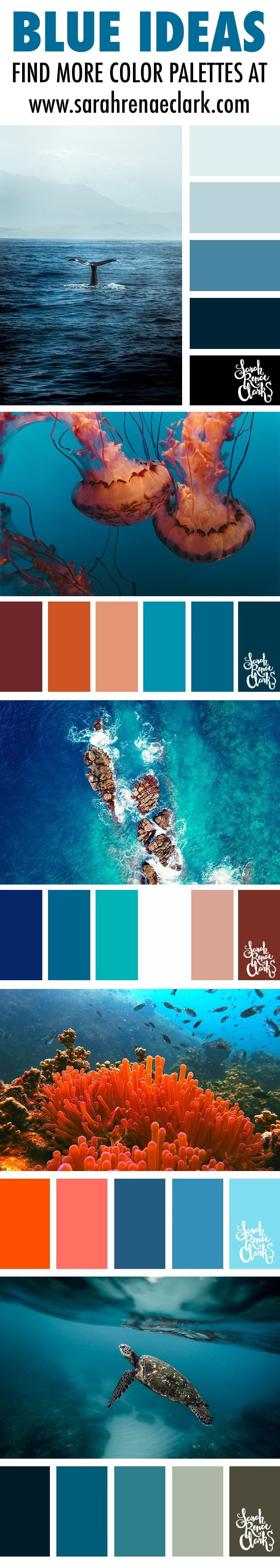 blue color palettes, color schemes