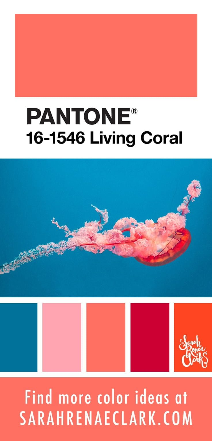 Color scheme with PANTONE Living Coral