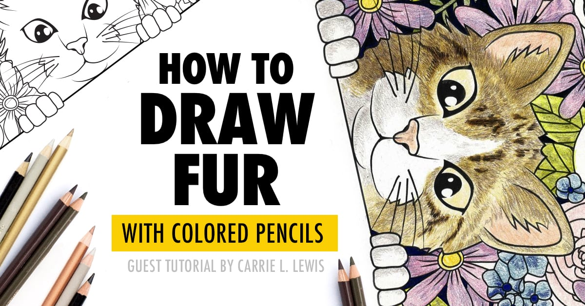 How to Draw Fur with Colored Pencils | Guest Tutorial by Carrie L. Lewis