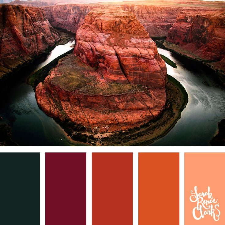 Beautiful red rock colors