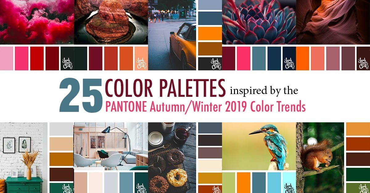 25 Color Palettes Inspired by the Pantone Autumn/Winter 2019-20 Color Trends