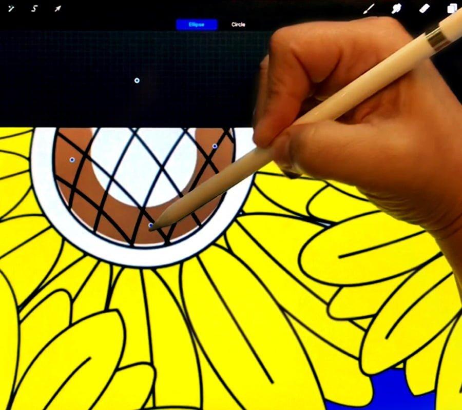 Digital coloring using Procreate App