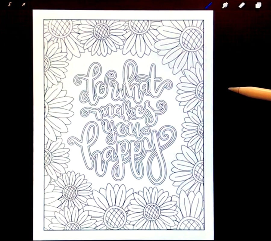 How to import an image from your iOS device into Procreate