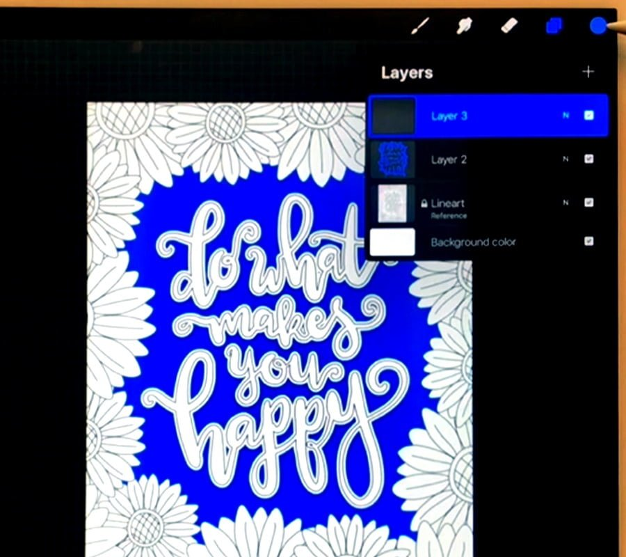 Creating a new layer in Procreate