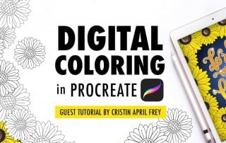 Digital Coloring in the Procreate App By Cristin April Frey