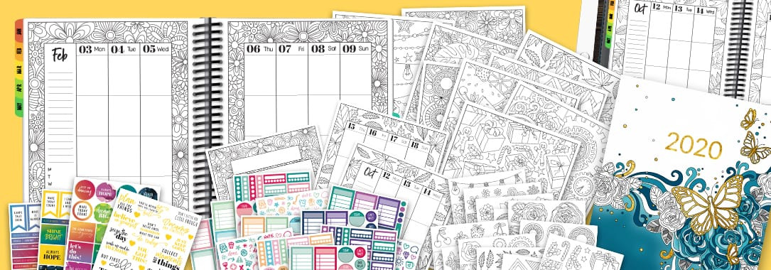 2020 Coloring Planner bundle