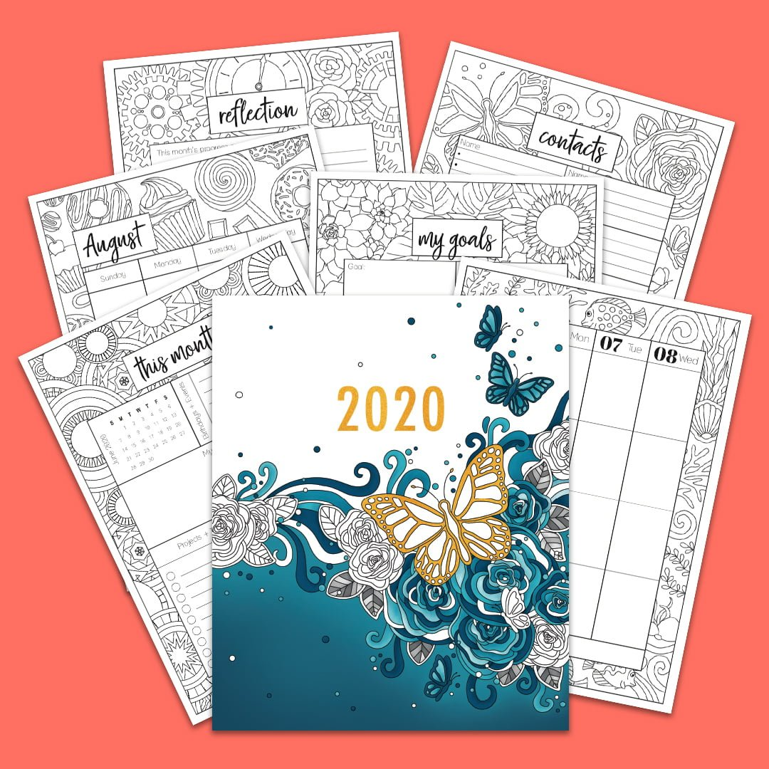 2020 Coloring Planner