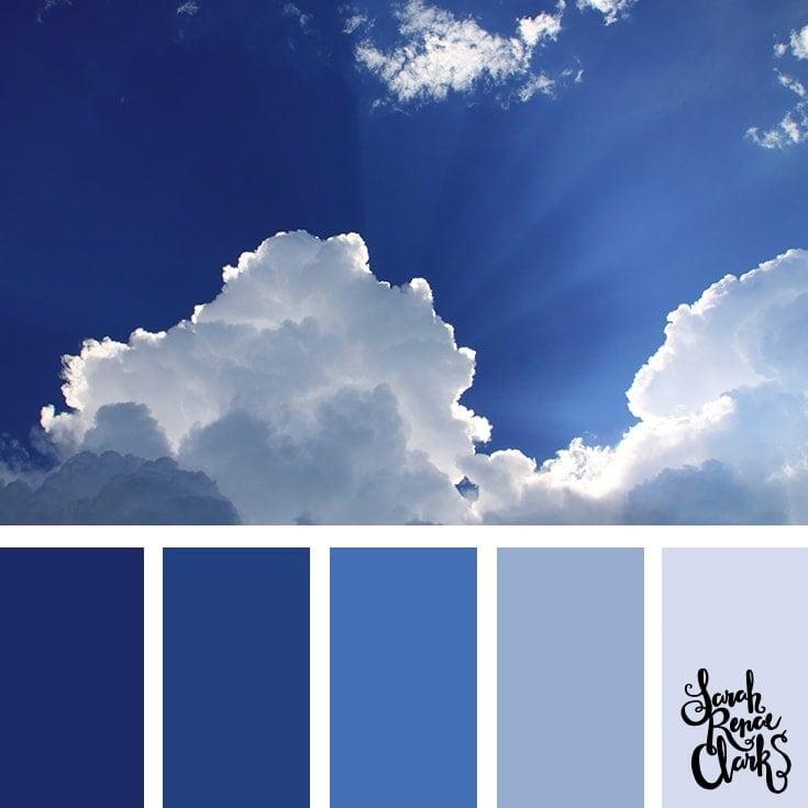 Color Palette 351 - Classic Blue Sky