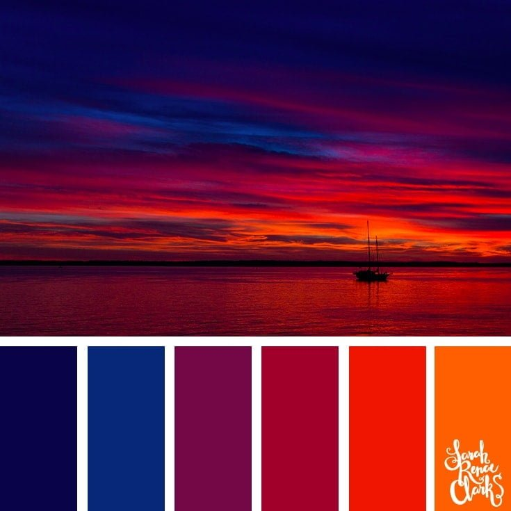 Color Palette 352 - Colorful Sunset