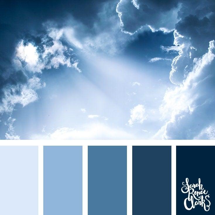 Color Palette 353 - Classic Blue sky