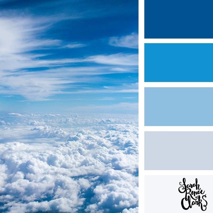 Color Palette 355 - Cloudy Sky