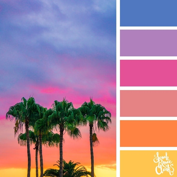 Color Palette 358 - Tropical Sunset