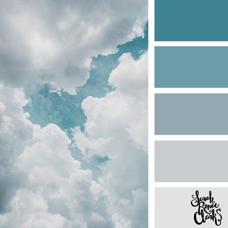 Color Palette 359 - Cloudy colors