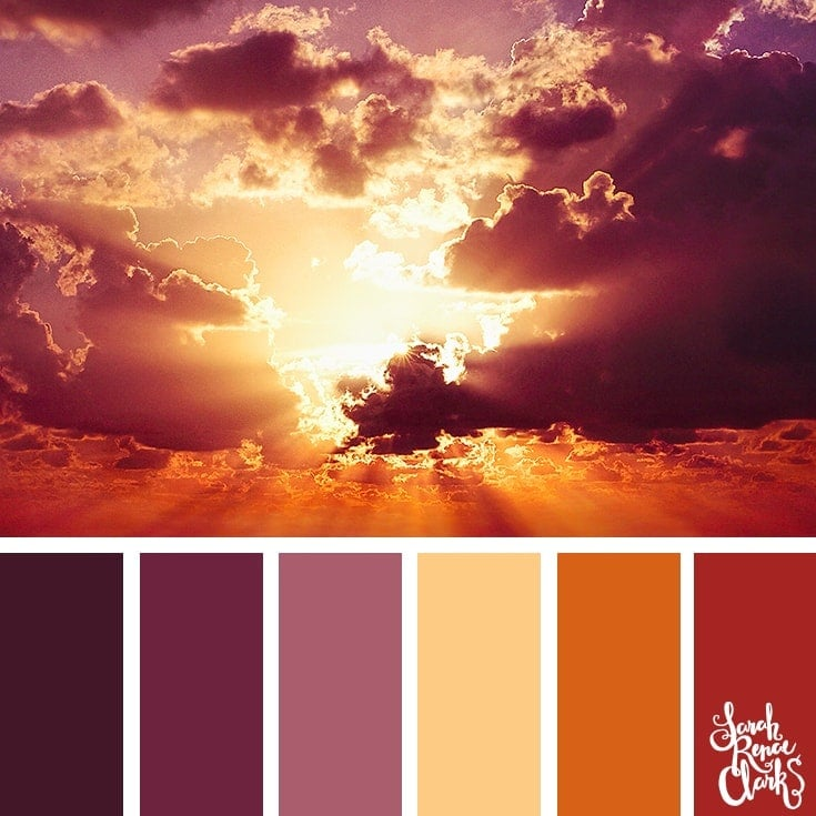 Color Palette 360 - Moody Sunset