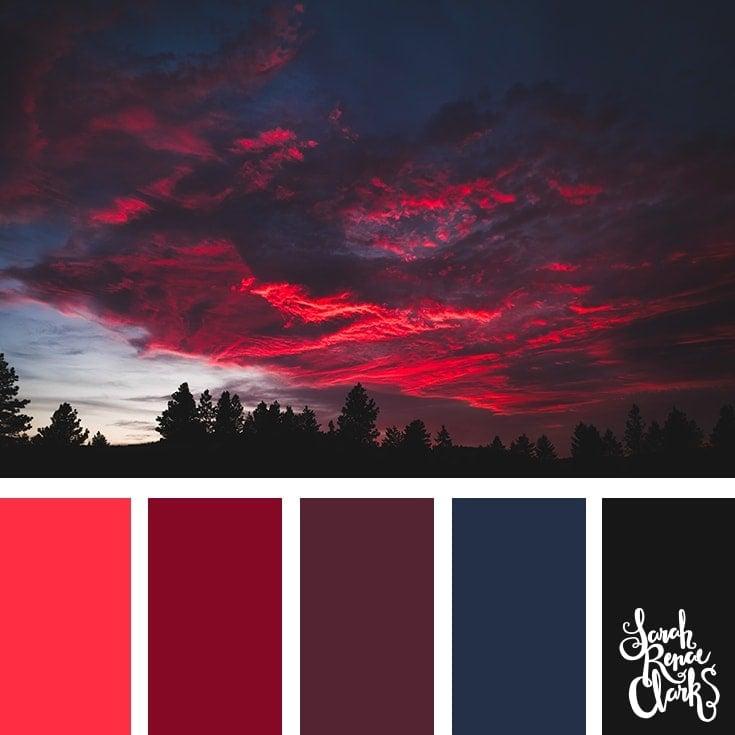 Color Palette 364 - Red Skies