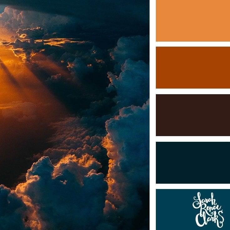Color Palette 366 - Cloudy Sunset