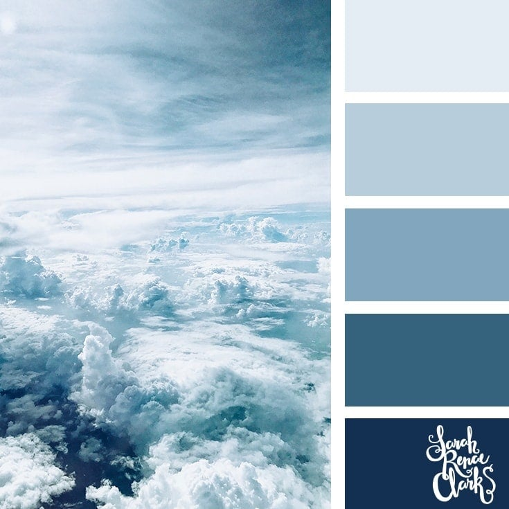 Color Palette 368 - Cloudy Blues