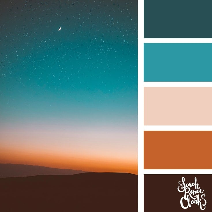 Color Palette 369 - Moody Night Sky