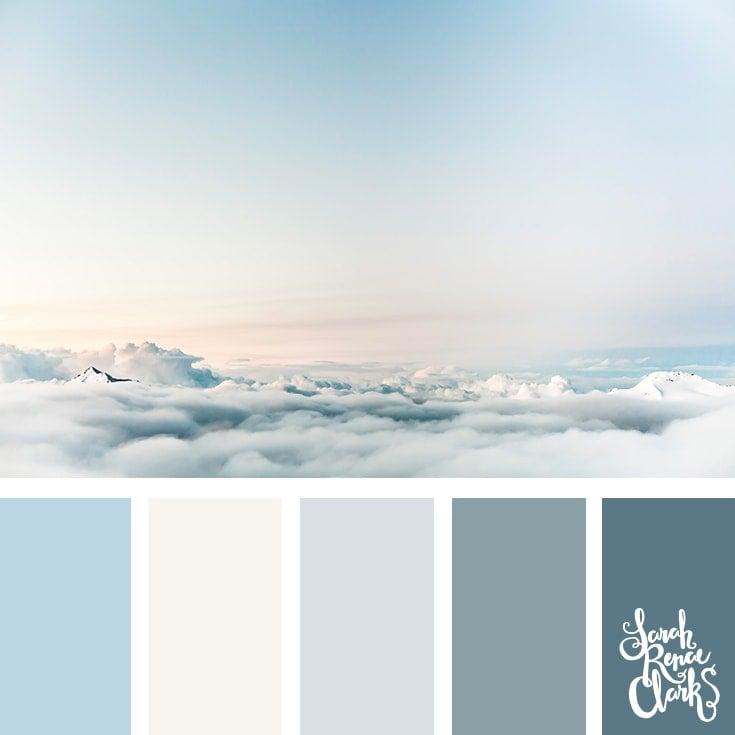 Color Palette 370 - Light Sky Colors