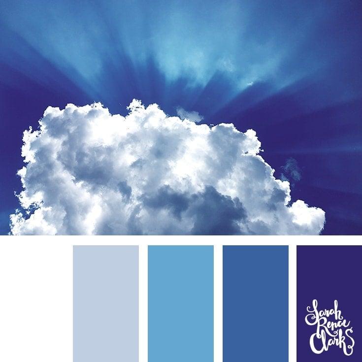 Color Palette 373 - Classic Blue Sky