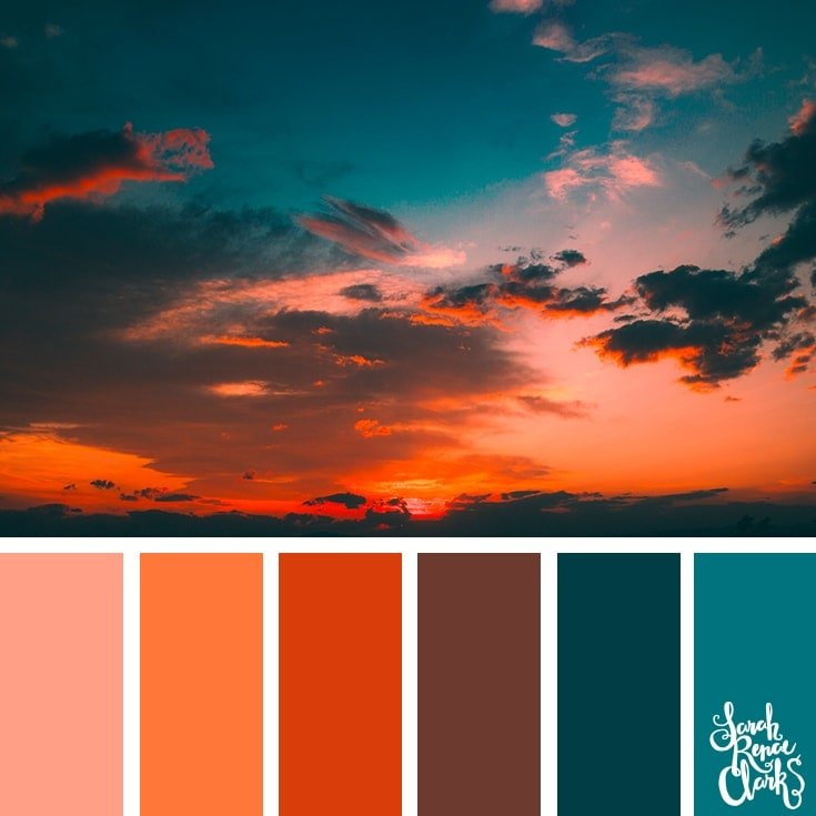 Color Palette 375 - Red Sunset
