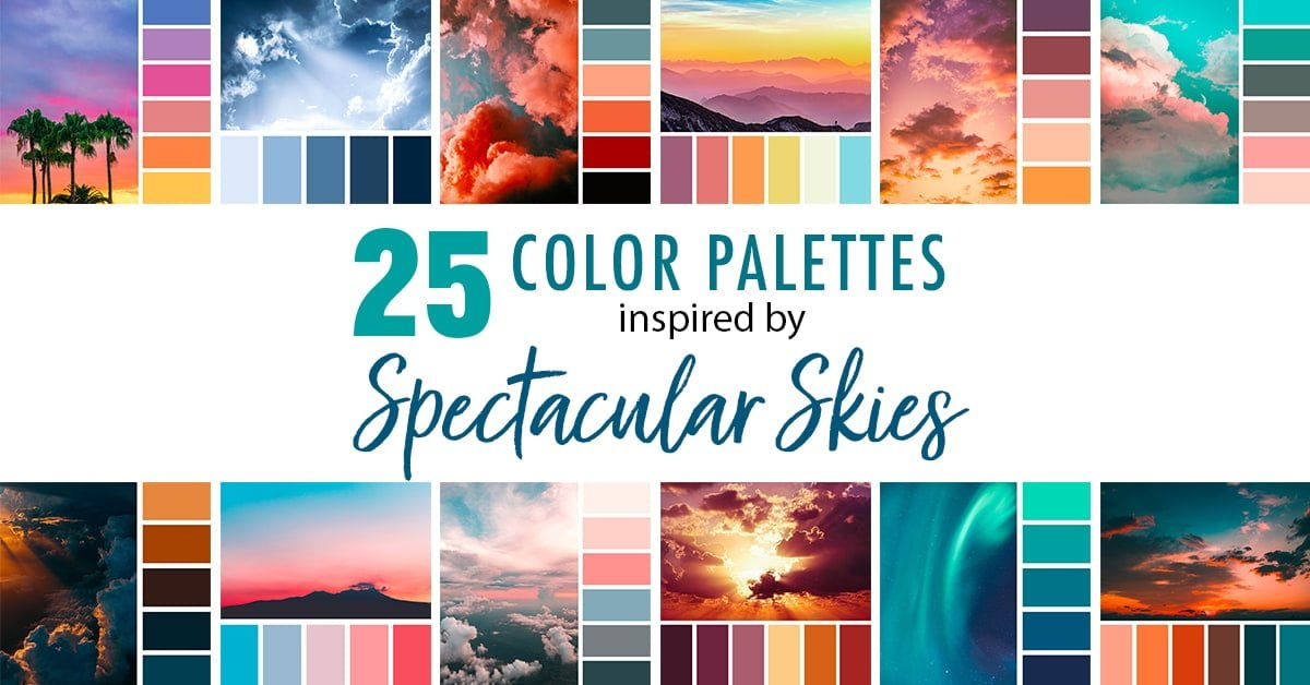 25 Color Palettes Inspired by Spectacular Skies and PANTONE Classic Blue