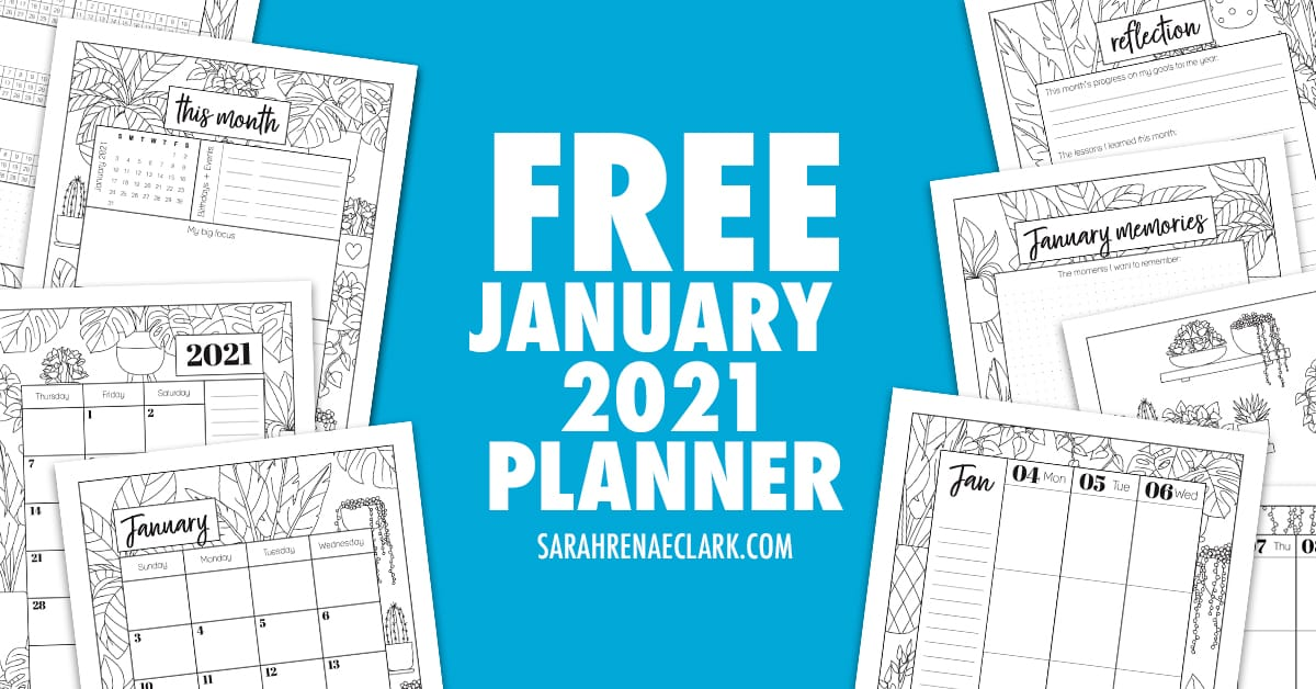 Free 2021 January Planner