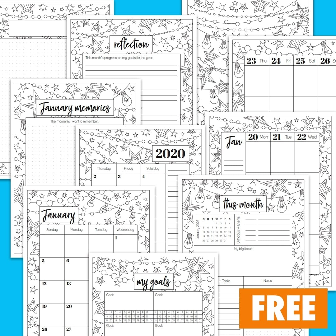 Free January 2020 Planner Printable