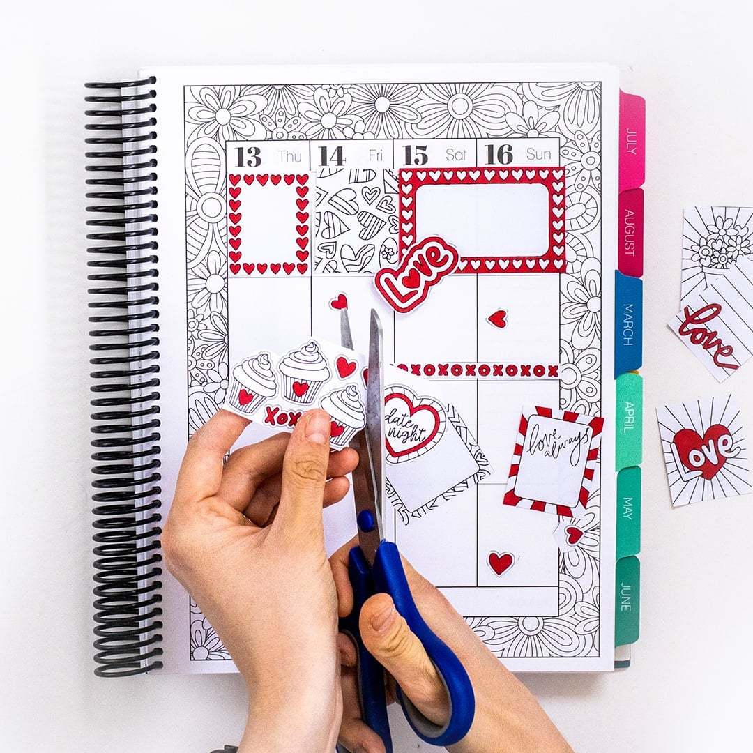 Cut your planner stickers by hand