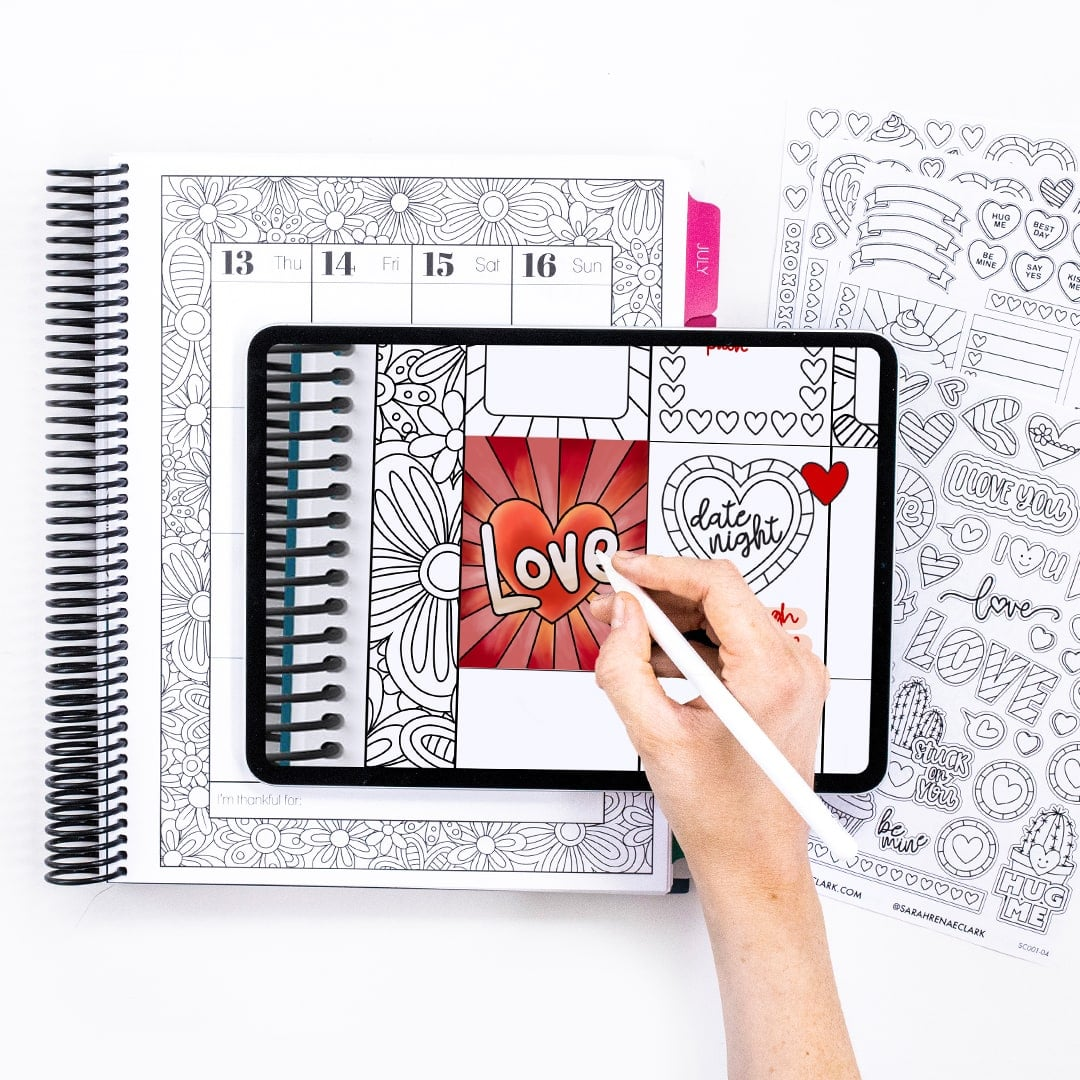 Free Digital Planner Stickers (Printable too) for Valentine's Day