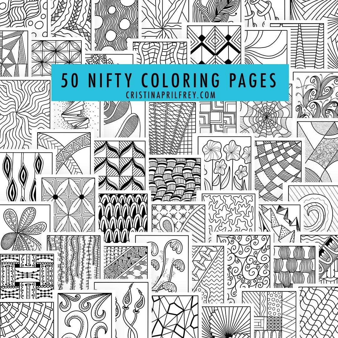 Free adult coloring pages: 50 Nifty Geometric Coloring Pages
