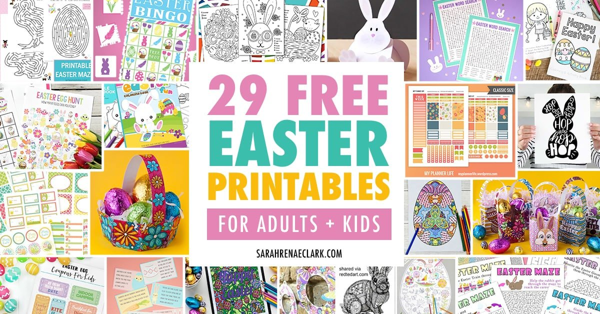 29 Free Easter Printables for Adults and Kids