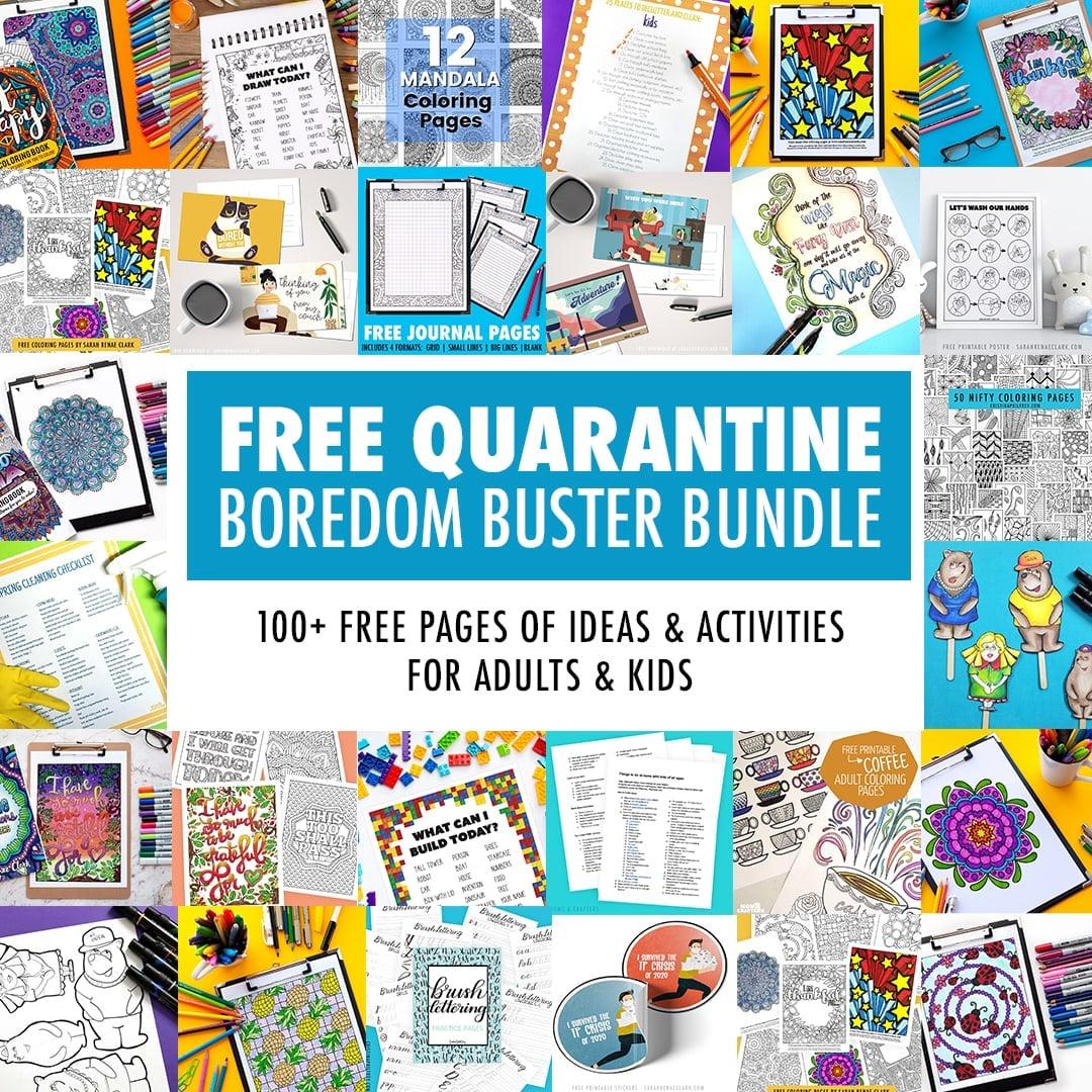 Free Printable Quarantine Boredom Buster Bundle