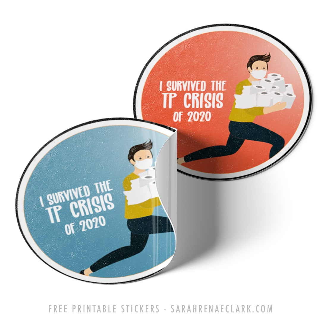"Funny ""Toilet Paper Crisis of 2020"" free stickers"
