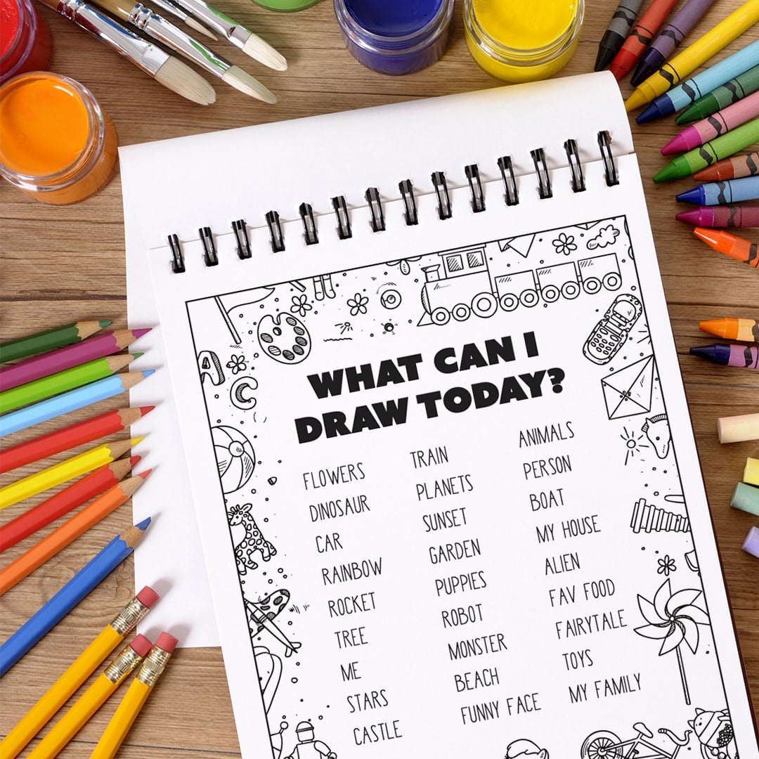 Free printables for kids: What Can I Draw Today?