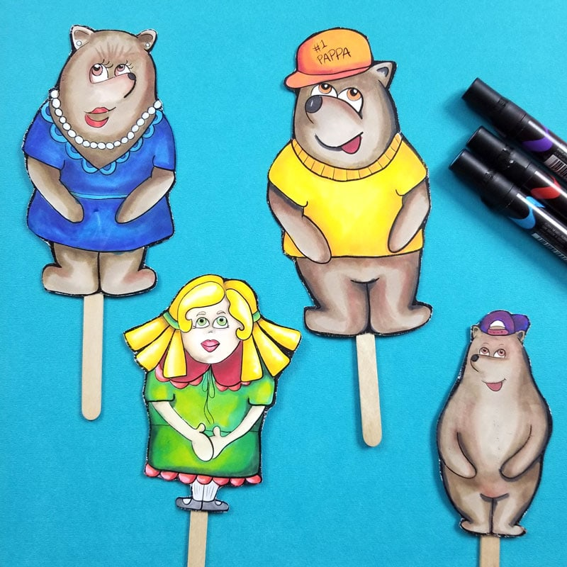 Free Printable Popsicle Puppets for Kids