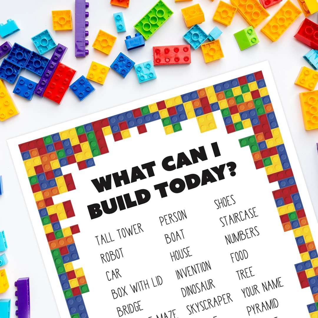 What Can I Build Today? Free printable building prompts for kids