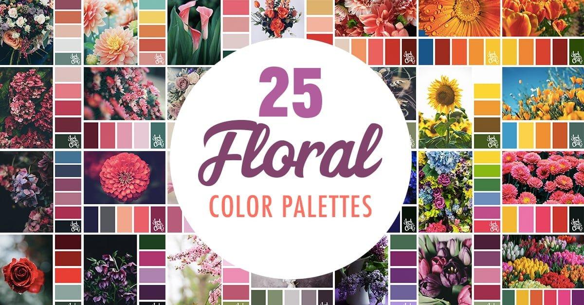 25 Floral Color Palettes