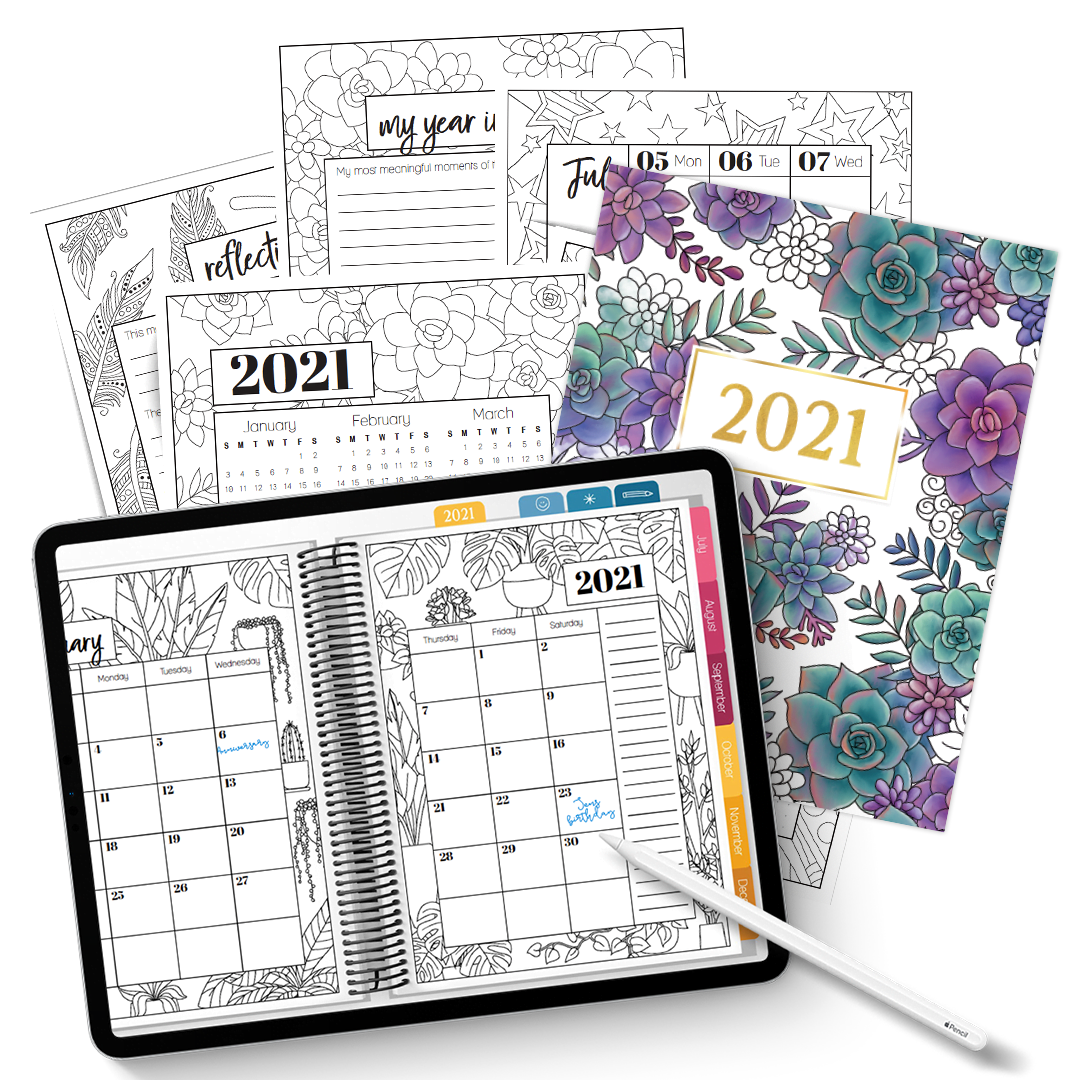 Digital + Printable 2021 Planner Combo