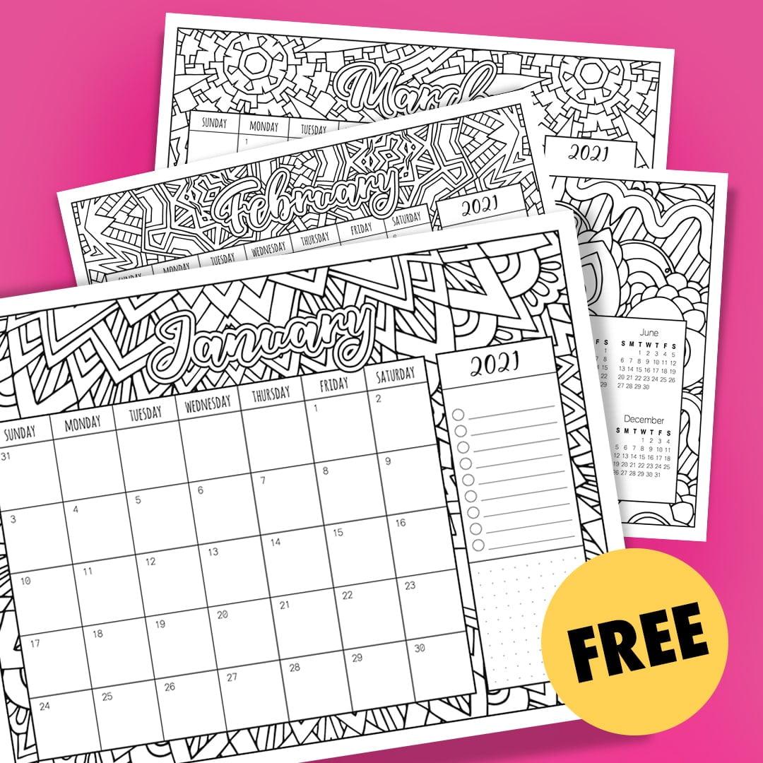 Printable 5 By 8 2021 Calendar : 2021 Calendar Free ...