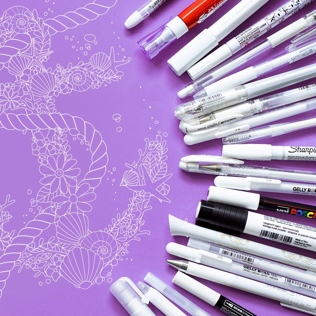 The Best White Gel Pens & White Paint Markers